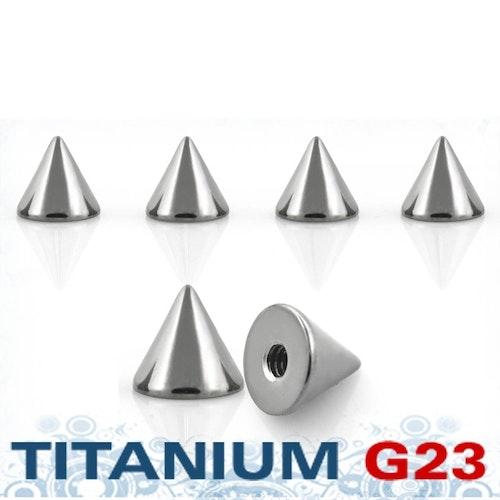 Titanium kon 5mm med 1.6mm gäng (lös del)