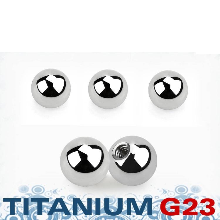 Titanium kula 5mm med 1.6mm gäng (lös del)