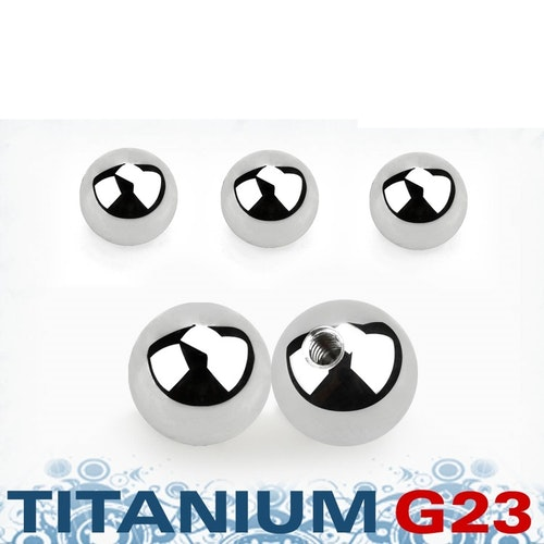 Titanium kula 6mm med 1.6mm gäng (lös del)