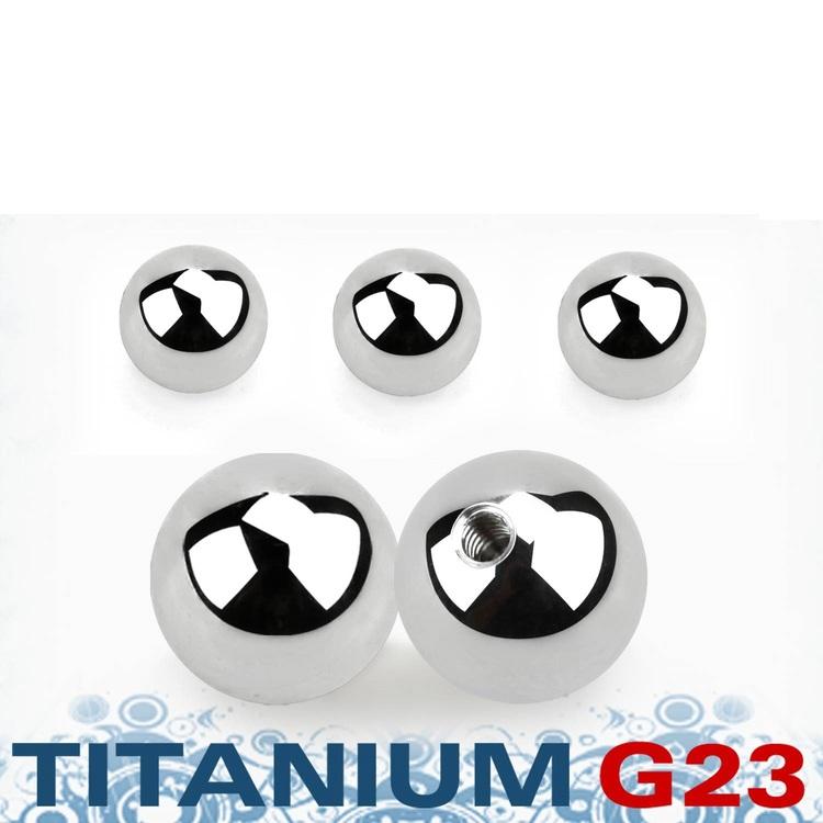 Titanium kula 8mm med 1.6mm gäng (lös del)