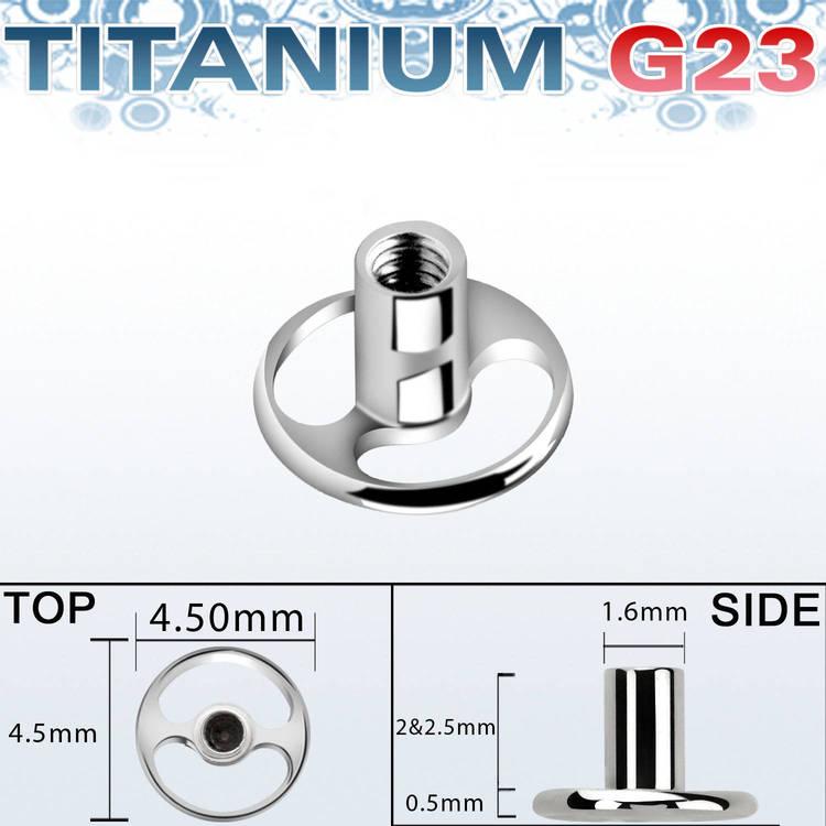 Rund dermal-platta / bas i titanium