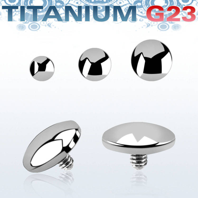 "Titanium dermal piercing 1.2mm ""platt dome"""