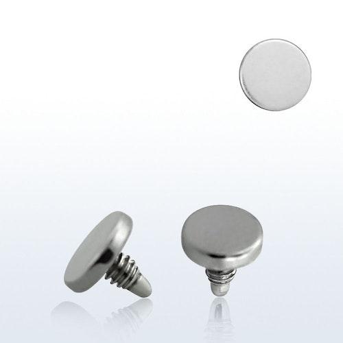 Dermal piercing 1.2mm med 3mm platt topp