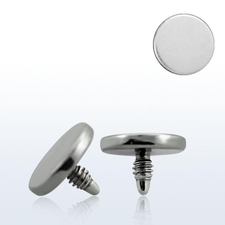 Dermal piercing 1.2mm med 5mm platt topp