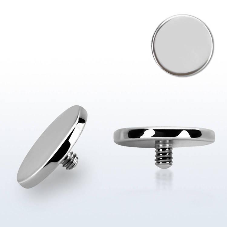 Dermal piercing 1.2mm med 6mm platt topp