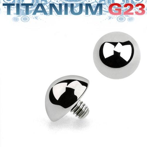 Titanium dermal piercing 1.2mm med halvkula