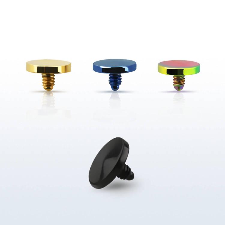 Dermal piercing 1.2mm med 4mm eloxerad platt topp