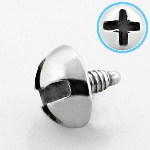 Dermal piercing 1.2mm med 4mm skruvtopp