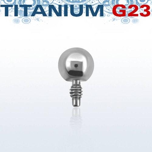 Titanium dermal piercing 1.2mm med 3mm kula