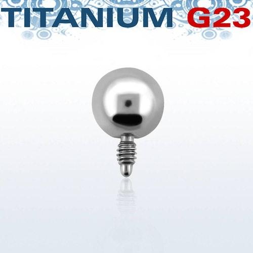 Titanium dermal piercing 1.2mm med 4mm kula