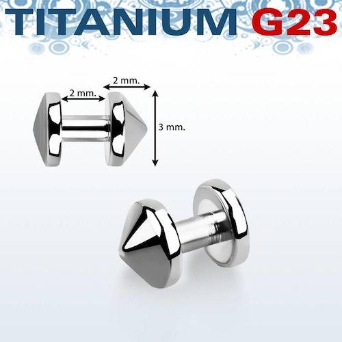 Skin diver titanium (3mm kon)