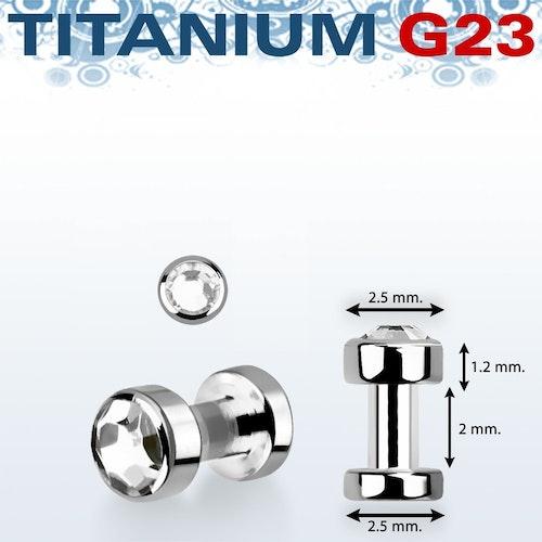 Skin diver titanium 2.5mm klar crystal