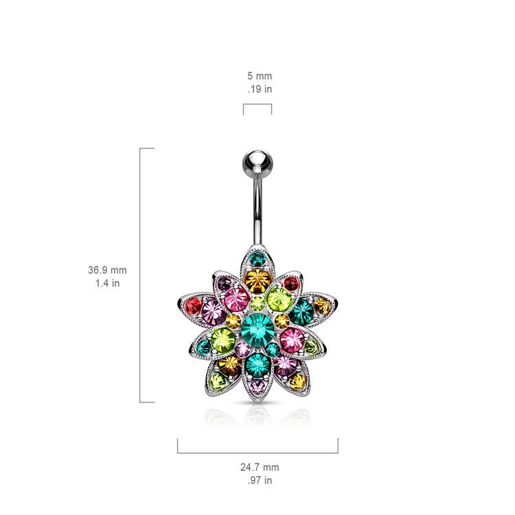 Navelsmycke - Stor blomma