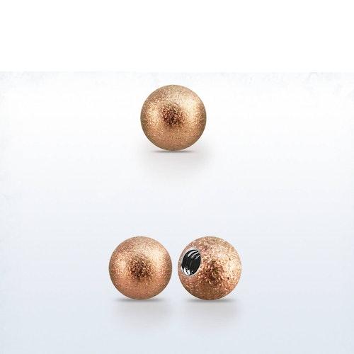 Lös kula frostad roséguld 5mm med 1.2mm gänga (lös del)