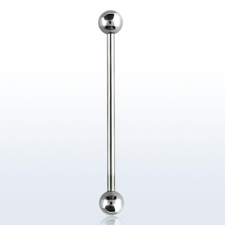 Industrial barbell 1.2mm med 4mm kulor