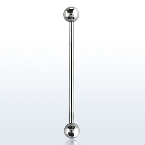 Industrial barbell 1.2mm med 4mm kulor