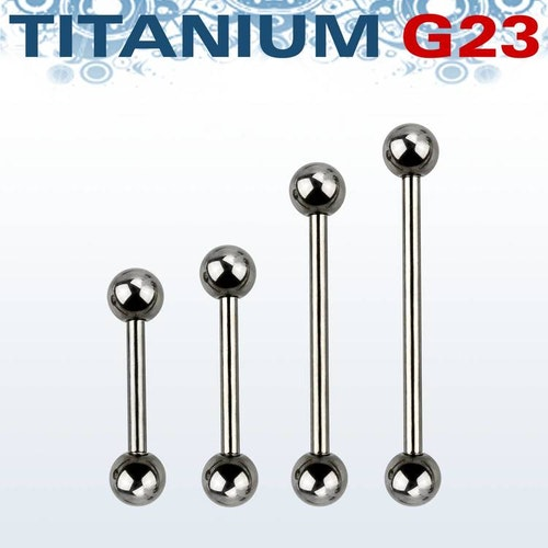 Titanium Barbell 1.6mm med 6mm kulor