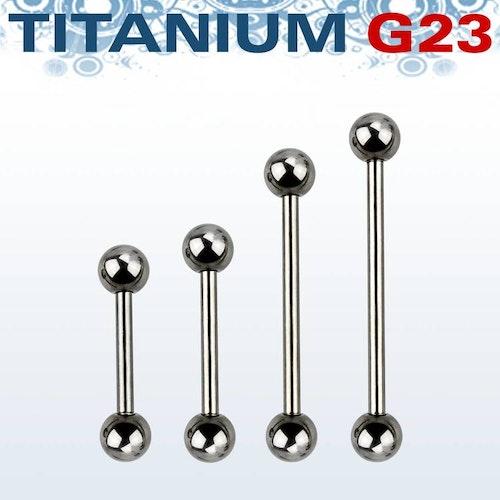 Titanium Barbell 1.6mm med 6mm kulor