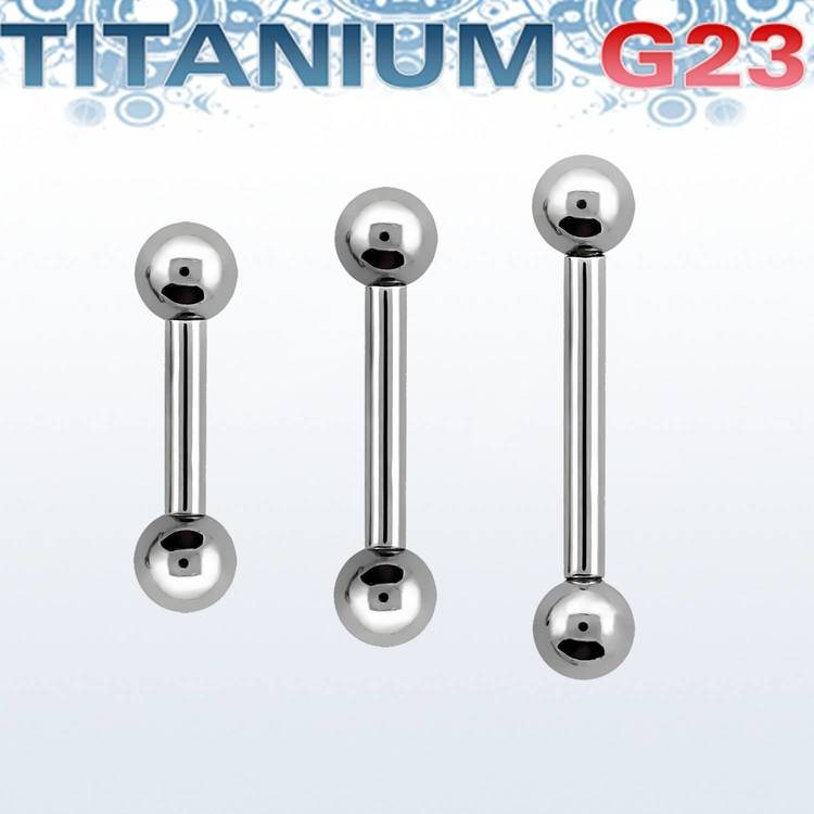 Titanium barbell 1.2mm med 3mm kulor