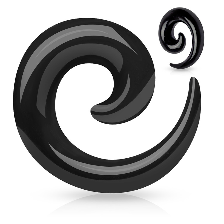 Töjspiral i svart akrylplast