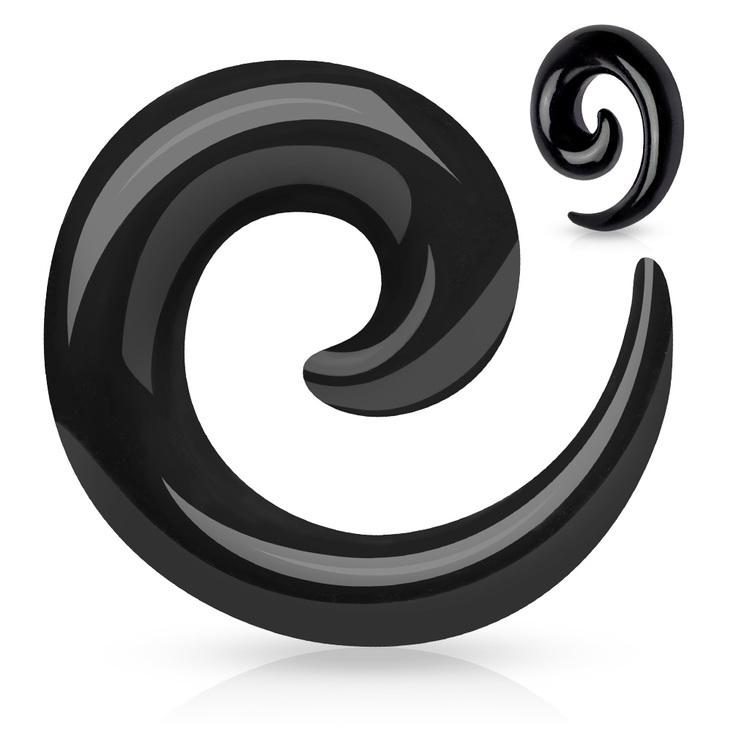 Svart töjspiral - kit med 6st/3st 1.6-12mm