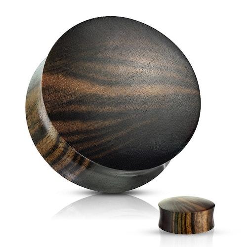Ebony wood träplugg med ränder