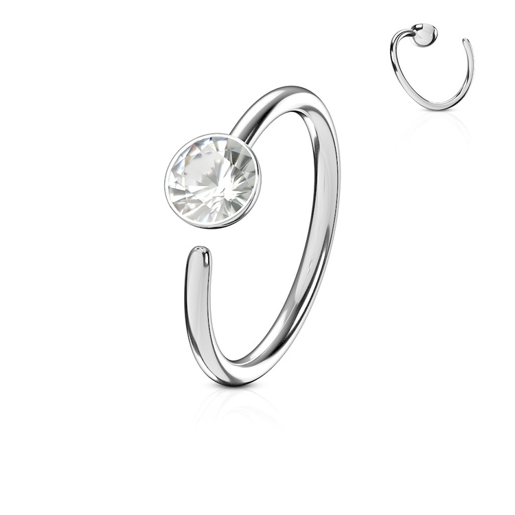 Näsring 0.8mm med 3mm crystal