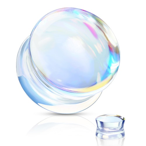 Pyrex glasplugg med iriserande effekt