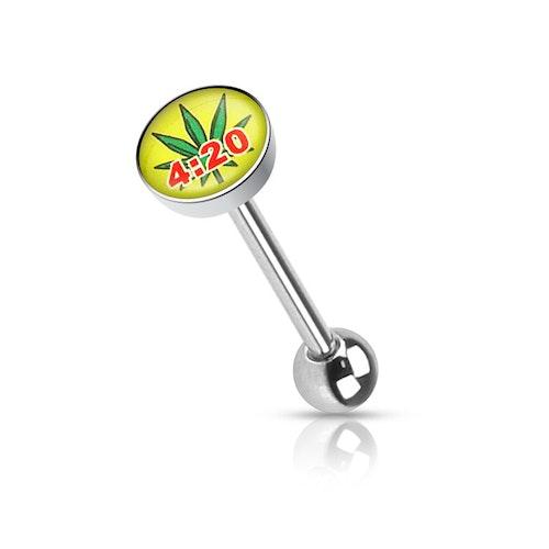 Barbell / Tungstav med 4:20 marijuanablad