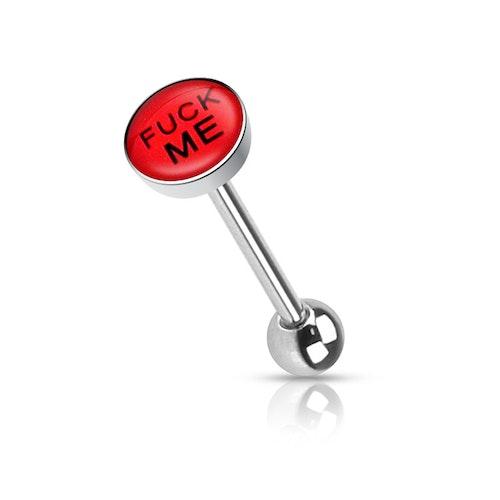 """Barbell / Tungstav med """"fuck me"""" logo"""