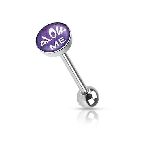 """Barbell / Tungstav med """"blow me"""" logo"""