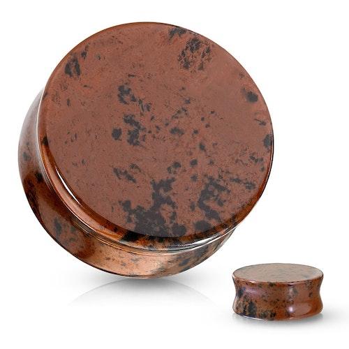 Stenplugg mahogny obsidian