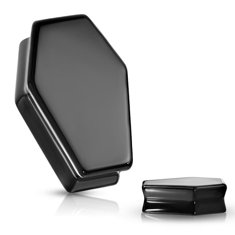 """Stenplugg """"kista"""" i svart obsidian"""