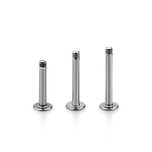 Labret / Monroe stav i 316L Kirurgiskt stål 1.6mm (lös del)