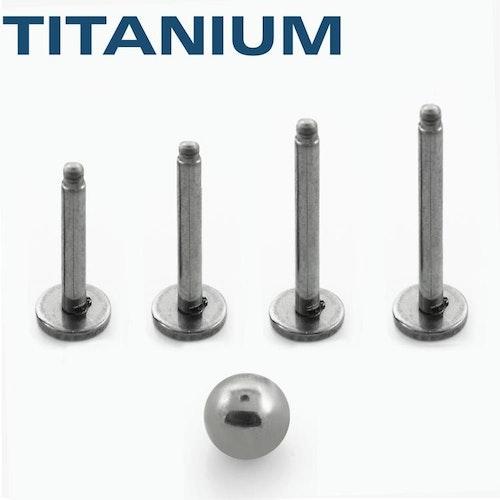 Titanium 1.2mm Labret / Monroe Läksmycke
