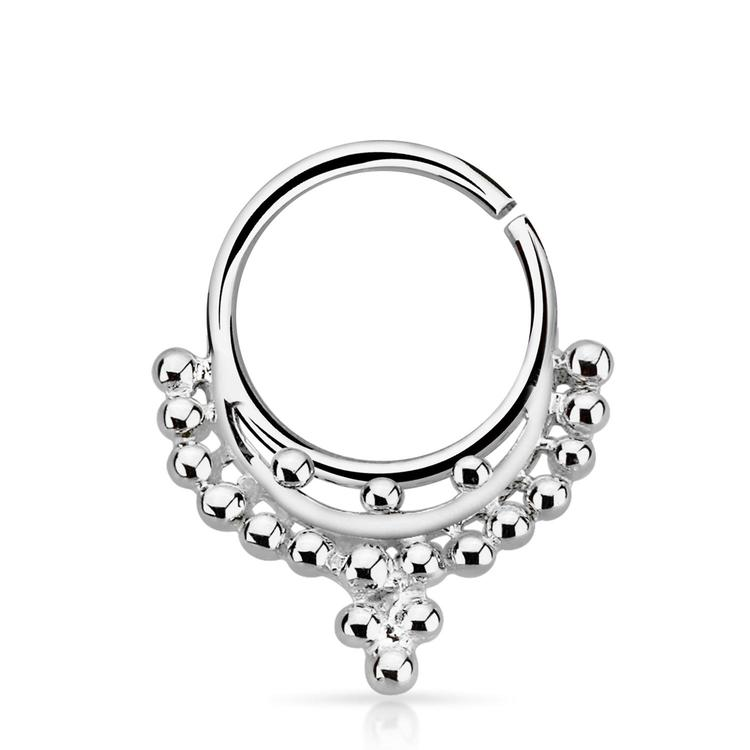 Septum piercing i 925 silver - Inspired by Indian Design