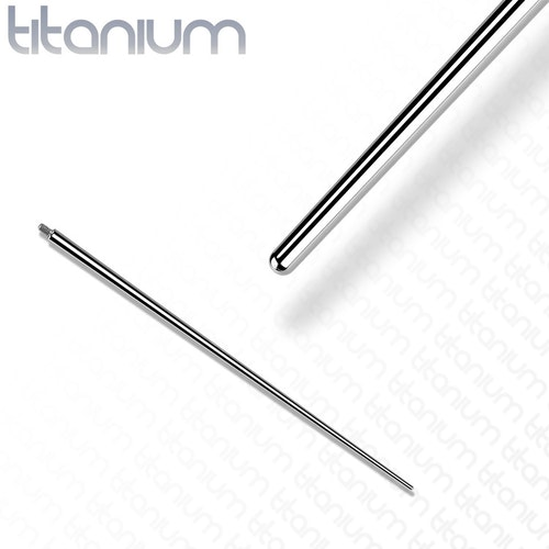 Gängad ledsticka / taper i titanium