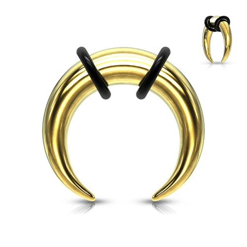 """C-Formad """"buffalo"""" töjning i kirurgiskt stål (guld)"""