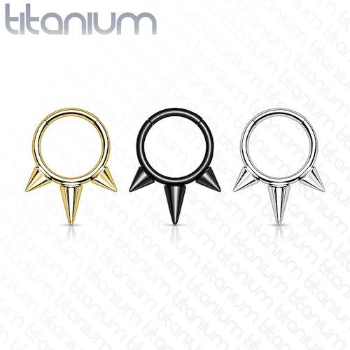 Septum segmentring i titanium 1.2mm med gångjärn och spikes