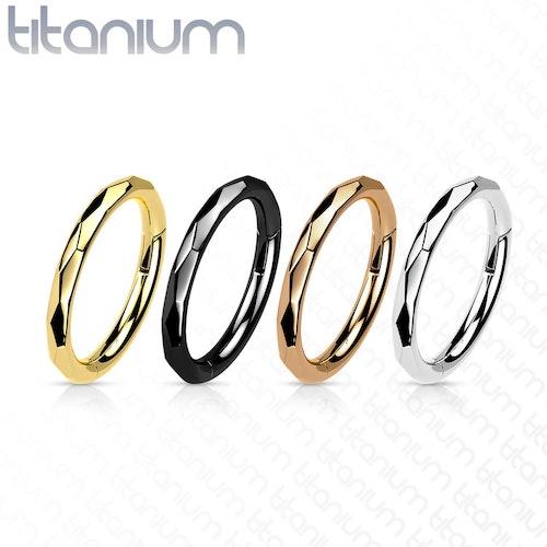 Segmentring i titanium 1.2mm med fasettslipad kant