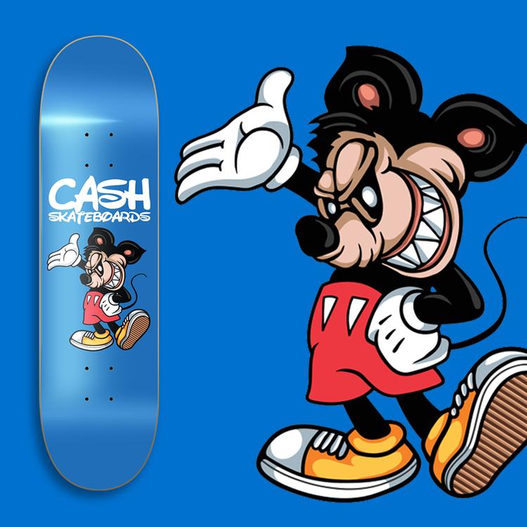 "Cash Skateboards ""Happy Mouse"""