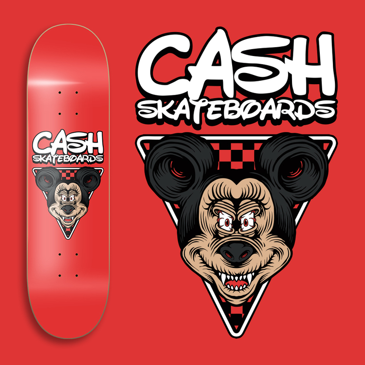 "Cash Skateboards ""In your face Mouse"""