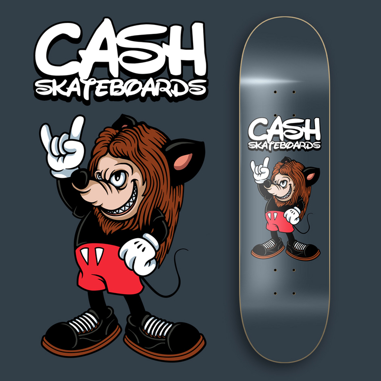 """Cash Skateboards """"Hardrock Mouse"""""""