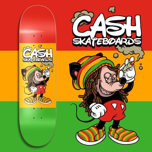 "Cash Skateboards ""Rasta Mouse"""
