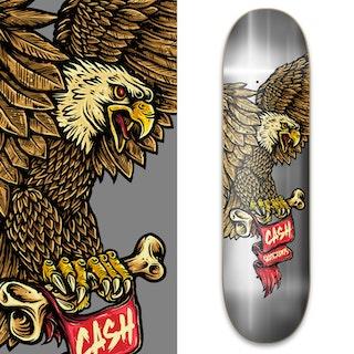 """Cash skateboards """"Eagle Silver"""""""