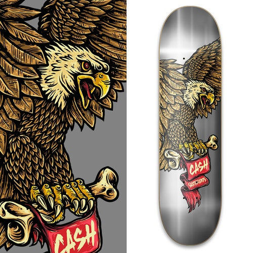"Cash skateboards ""Eagle Silver"""