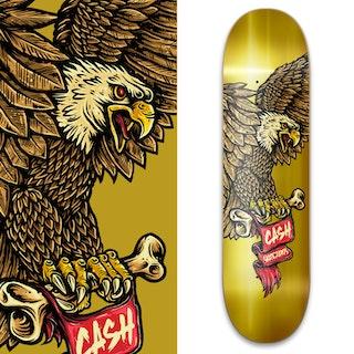 """Cash skateboards """"Eagle Gold"""""""