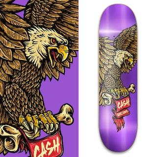 "Cash skateboards ""Eagle Purple"""