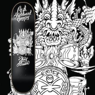 "Cash Skateboards ""Tony Jansson"" Black/White"