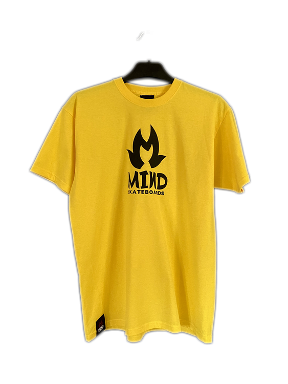 "Mind Skateboards ""Yellow Print Tee"""